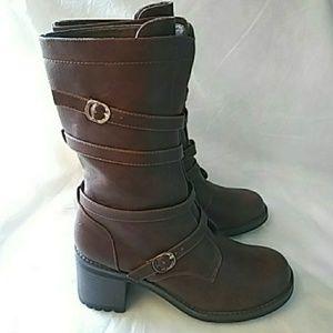 💟💟👢  Brown Women's Calf High Winter Boots 👢💟